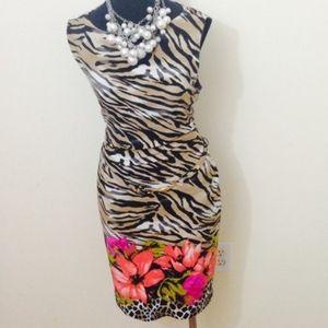 Animal Floral Dress